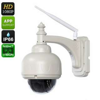 FHD Waterproof IP Camera - PTZ, Sony CMOS Sensor, Wi-Fi, Motion Detection, Night Vision (CVAGZ-I612)