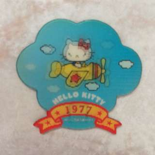 Sanrio hello kitty limited edition rare magnet 7-11 1977 plane design