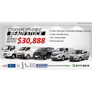 Toyota HIACE 3.0M/ DYNA 150 3.0M/ PROACE 1.6M *** OPEL COMBO 1.6A/ VIVARO 1.6M *** @ $30,888 (New Van)