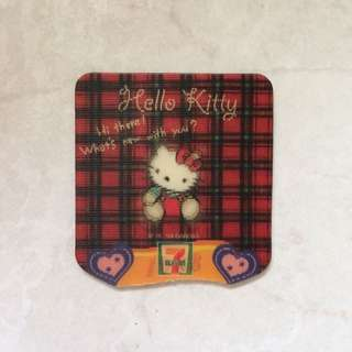 Sanrio hello kitty limited edition rare 7-11 magnet (30th anniversary collection) 1988 square plaid design