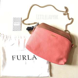 FURLA crossbody Chain bag mini bag 鐵鏈拼色斜咩袋