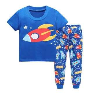 Little Kid Pajama   Design: as attach photo  Size: 2t, 3t, 4t, 5t, 6t, 7t