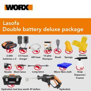Hydroshot Double-Battery Deluxe Set with free tool box