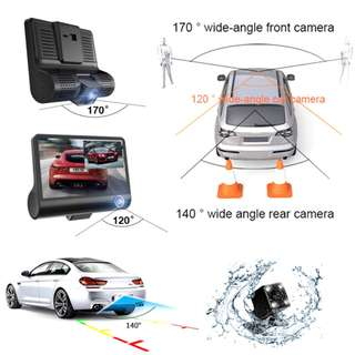 3 Channels Camera Video Car DVR Full HD 1080P Z33