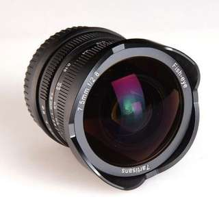7artisans 7.5mm F2.8 (available EOS-M, FX, E-mount )