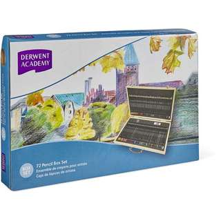 Derwent Academy 72 Pencil  Wooden Box Set