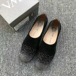 VMe 水晶石羊猄 平底鞋