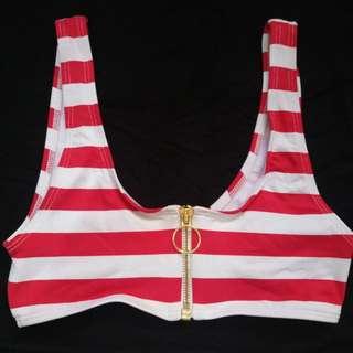 H&M red stripe top