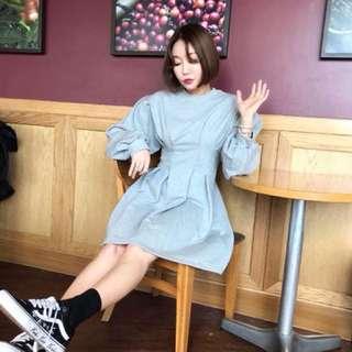 春👄韓國縮腰洋裝