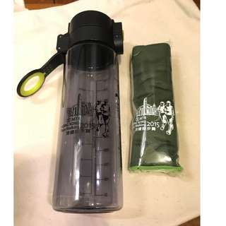 [Not a Commodity非賣品] MTR HONG KONG Race Walking Water Bottle with Towel (港鐵競步賽環保水樽+快乾毛巾)