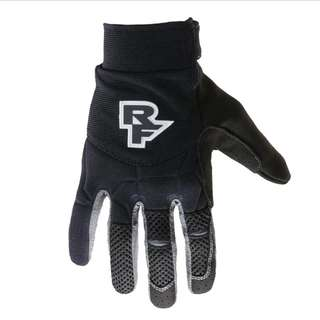 🆕! RaceFace ( SIZE XS ) Black Full Finger Protective Gloves   #OK