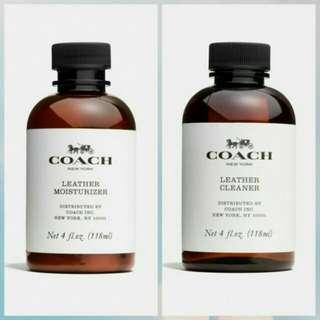 Pembersih tas kulit coach cleaner & coach moisturizer