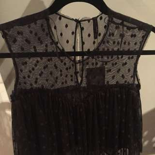 Zara Lace Top Black XS