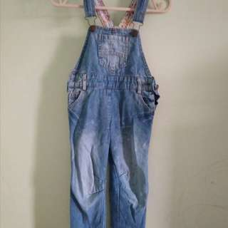 Overall jeans anak perempuan,jumping beans