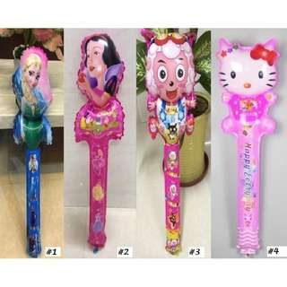 (Preorder) Cartoon Foil Balloon Stick