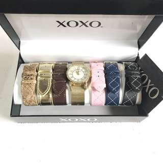 NEW XOXO Gold Watch with Interchangeable Bands