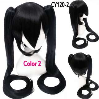 Two Ponytails Hair Cosplay Wigs Costume 38inches - A, B, C, D
