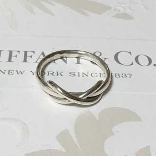 Excellent Authentic Tiffany & Co. Infinity Silver Band Ring Size 7.25