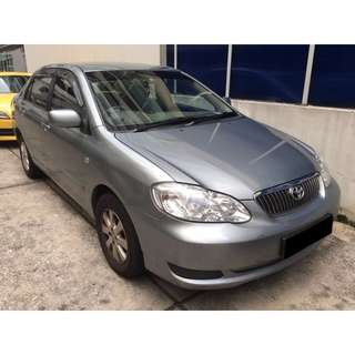 02/03-05/03/2018 TOYOTA ALTIS ONLY $180.00 ( P PLATE WELCOME)