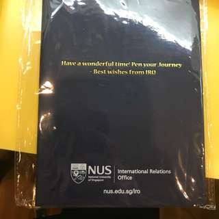 Brand New NUS Leather-bound Diary Notepad