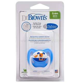 Dr Brown Silicone Pacifier 0-6 mths