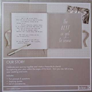 (SF postage included)Kiki.k Our Story Memory Book @ 結婚 wedding 婚禮婚紗