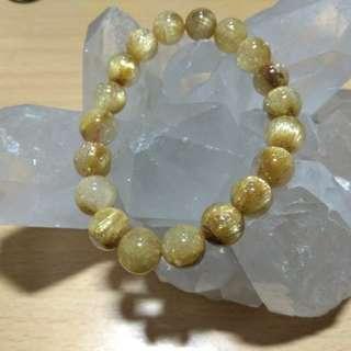 罕有10mm金髮晶(Golden Rutilated Quartz)水晶