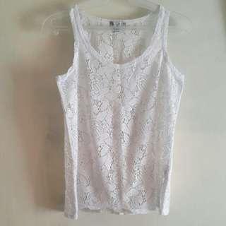 Cotton On White Lace Sleeveless Top
