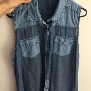 Sportsgirl denim vest size 12