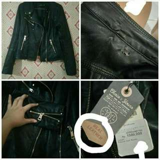 jaket kulit/leather jacket/bikers jacket/hargai sendiri minimal 300rb