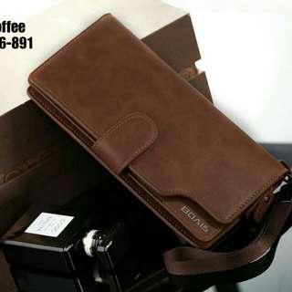 New Arrival !! 👝 BOAIS UNISEX WALLET #1166-891 IDR 2000.000  Kualitas: Semi Premium Ukuran: 10x3x20cm Bahan: Smooth Leather Variant: Black, Brown, Coffee Berat: 200 gram  Top Selling Wallet 👍 Pria dan Wanita bisa pakai 👍