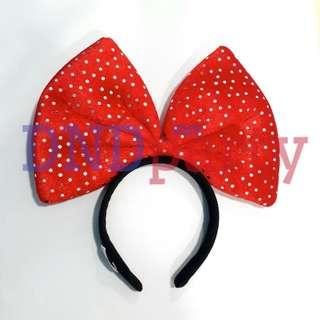 Red Ribbon Headband
