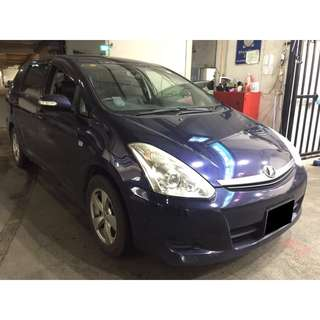 02/03-05/02/2018 TOYOTA WISH ONLY $240.00 ( P PLATE WELCOME)