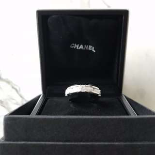Authentic Chanel Ultra Ring - White Ceramic