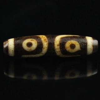 Tibet Old 3-Eyes Dzi Bead - 藏区三眼老天珠