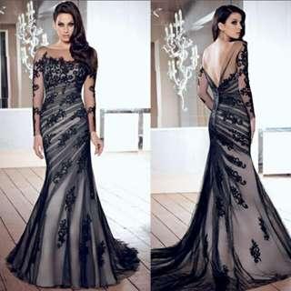 H009 New Fashion Elegant Long Dress Gown
