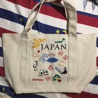 Japan刺繡帆布袋