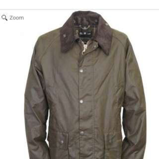 Barbour classic bedale wax jacket olive 36