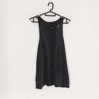 Factorie Dark Grey Racerback Tank Top