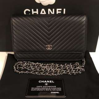 Authentic Chanel Woc Chevron