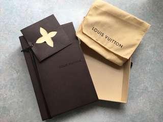 正版LV銀包盒