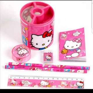 Hello Kitty Stationery Set Holder