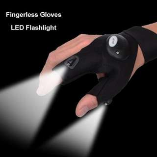 (Pre Order) LED Light Finger Gloves With Flashlight With Tools Outdoor Gear Rescue Night Fishing
