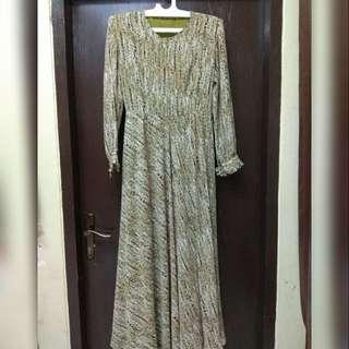 Preloved Dress baru sekali pakai full furing katun