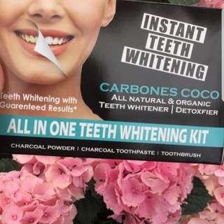 Carbones coco teeth whitening set