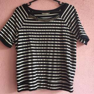Stripes top with beads