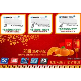2018 YORK INVERTER MULTI SPLIT AIRCON PROMOTION