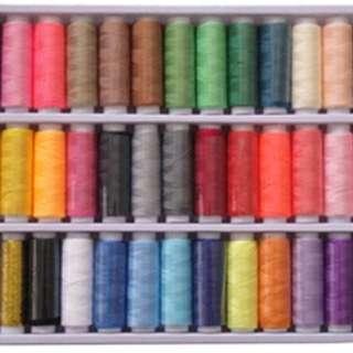 Brand new 39 pcs Mix Color Polyster thread set