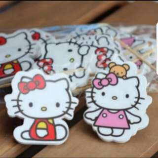Hello kitty Cupcake Toppers for Party Decoration