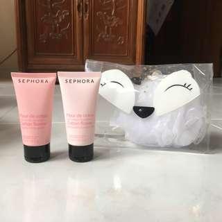 Sephora small fox pouch set